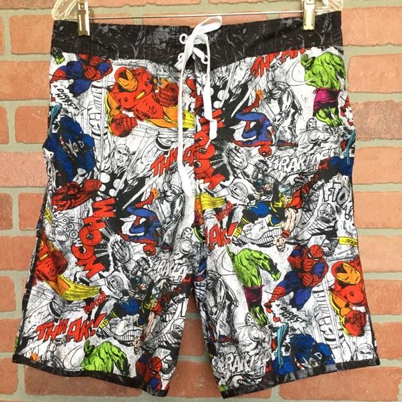 04dfc1e397 Marvel Swim   Comics Mens Trunks Shorts 4r32   Poshmark